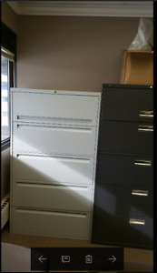 5 Drawer Filing Cabinet Black