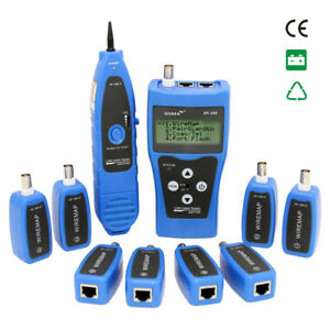 Network Ethernet Lan Locator Coaxial Lcd Cable Tester W t 8 Remote Identifiers