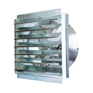 Ventamatic If30 30 inch 5 500 cfm Heavy Duty Industrial Exhaust Fan With Shutter