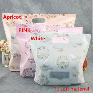50pcs Plastic Bag Gift Shopping Carrier Merchandise Bags For T shirt Clothes