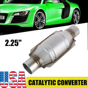 Universal High Flow Catalytic Converter Oval 2 25 In Out 9 Body