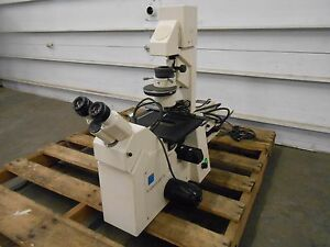 Zeiss Axiovert 100 Tv Microscope W Ludl Filter Wheel 99a042