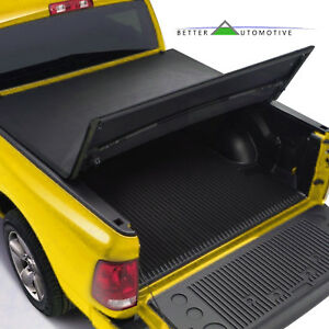 Lock Tri Fold Tonneau Cover For 2014 2019 Chevy Silverado Gmc Sierra 5 8ft Bed
