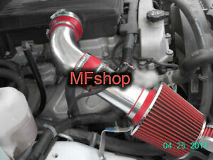 Red For 2007 2009 Hummer H3 3 7l L5 Cold Air Intake System Kit Filter