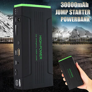 30000mah 4usb Car Jump Starter Emergency Charger Booster Power Bank Battery Sos