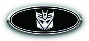 Ford Fusion 2013 2017 3pc Kit Transformers Decepticon Overlay Emblem Decal