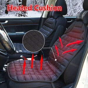 Thickening Heated Car Seat Cover Hot Heater Heated Cushion Warmer 12v Black Us