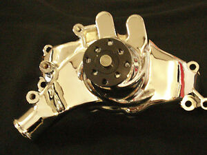 Bbc Big Block Chevy 396 427 454 502 Long Polished Aluminum Water Pump Hc 8022 P