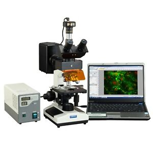Omax 40x 1600x 2mp Digital Epi fluorescence Trinocular Biological Microscope