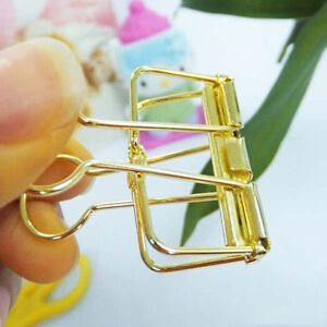 Hot 48pcs Office School Stationery Gold Binder Clips File Paper Clip 19mm Width
