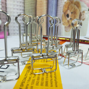 Hot 36pcs Office School Stationery Silver Binder Clip File Paper Clip 19mm Width