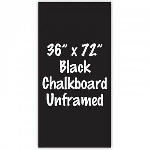 Frameless 36 X 72 Black Chalkboard Menu Board Sign Made In Usa