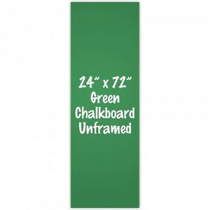 Frameless 24 X 72 Green Chalkboard Menu Board Sign Made In Usa