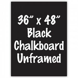 Frameless 36 X 48 Black Chalkboard Menu Board Sign Made In Usa