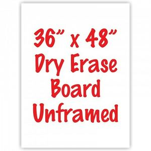 Frameless 36 X 48 Dry Erase Whiteboard Menu Board Sign Made In Usa