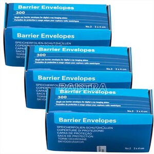 3000pcs Dental X ray Scanx Barrier Envelopes No 2 For Phosphor Plate Hot Sale