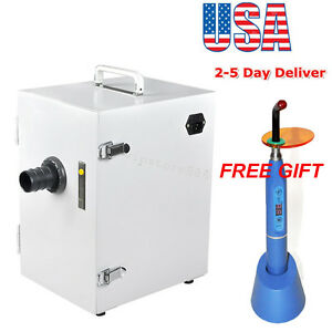 Dental Lab Digital Single row Dust Collector Vacuum Cleaner 1500mw Curing Light
