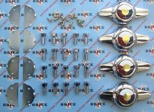 1953 1958 Buick Kelsey Hayes Wire Wheel Spinner Set
