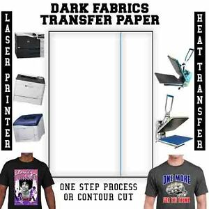 Laser Iron on Heat Transfer Paper For Darks 100 Blue Line free Parchment