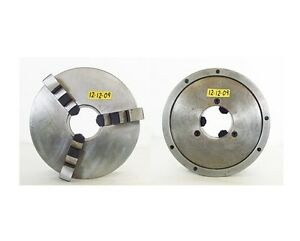 Bison 12 3 Jaw Self Centering Manual Chuck Flat Mount 4 0 Hole