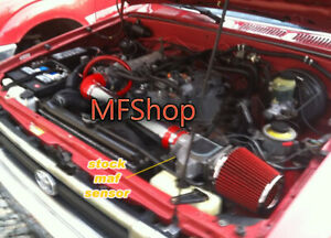 Red For 1989 1994 Toyota 4runner Pickup 2 4l L4 Air Intake Kit Filter