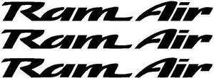 Ram Air Decals Pontiac Trans Am