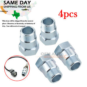 4 Pcs M18x1 5 O2 Oxygen Sensor Test Pipe Extension Spacer Extender Adapter Cel