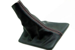 Manual Shift Boot Leather Synthetic For Ford Mustang 05 09 Red Stitch