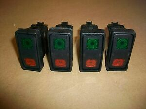 4pc Carlincswitch 2 Way Illuminated Rocker Switch Vkb2 15amp 24v New