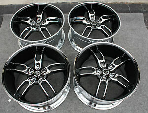 Ruff Racing 20 Wheels Rims New Chrome With Black Lip Style 942 Mustang Bmw