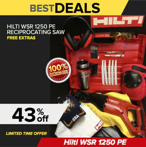 Hilti Wsr 1250 Pe Reciprocating Saw Free Blades Coffee Mug Extras Fast Tship