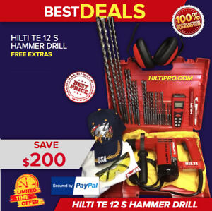 Hilti Te 12 S Hammer Drill Preowned Free Laser Meter Extras Bits Fast Ship