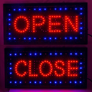 Bright Led Open Closed Store Shop Business Sign 9 8 18 9 Display Neon
