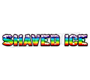 Shaved Ice Concession 36 Decal Sign Cart Trailer Stand Sticker Equipment