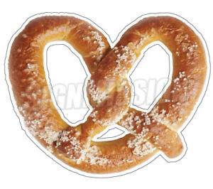 Soft Pretzel Concession 48 Decal Sign Cart Trailer Stand Sticker Equipment