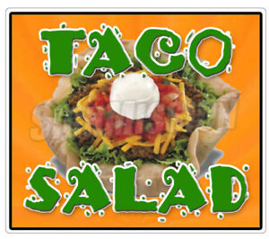 Taco Salad Concession 36 Decal Mexican Food Menu Cart Trailer Stand Sticker