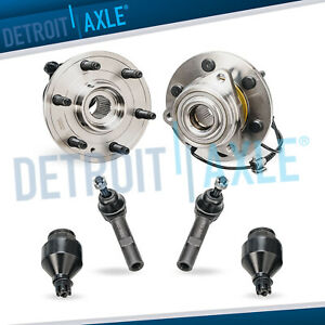 2 Front Wheel Bearing Hub Assembly Tie Rods Ball Joints Chevy Gmc 1500 4x4