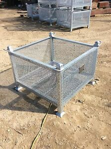 Heavy Duty Stackable Storage Bin W Lifting Lugs 3500 Lb Safe Working Load