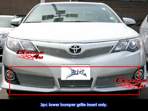 Fits Toyota Camry Se Bumper Stainless Steel Wire X Mesh Grill fits 2012 2014