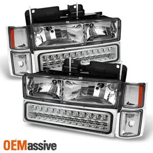 Fit 1994 98 Chevy C10 C k Suburban Tahoe Silverado Headlights led Bumper corner