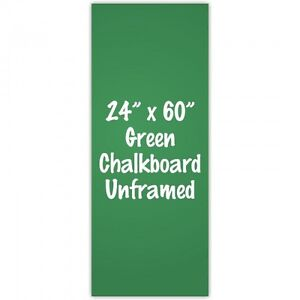 Frameless 24 X 60 Green Chalkboard Menu Board Sign Made In Usa