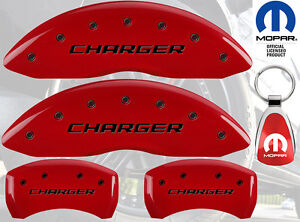 Mgp Caliper Brake Cover For Dodge 2006 2007 Charger Black Fill On Red Paint
