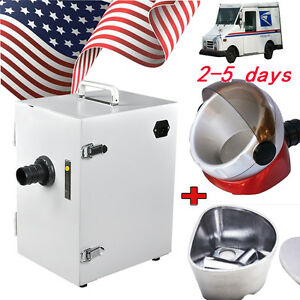 Dental Single row Dust Collector Vacuum Cleaner duplicating Flasks suction Base