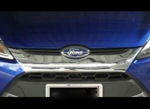 Fit For Ford Fiesta 5 Dr 2010 2014 Chrome Font Grill Cover Trim 1 Pcs