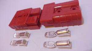 Anderson Sb50 Connector Kit Red 8 12 2 Pack 2 Connectors 4pins