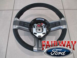10 Thru 13 Mustang Oem Ford Alcantara Suede Leather Steering Wheel Boss 302 New