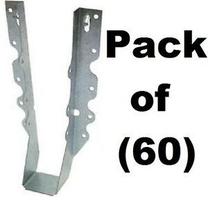 60 Pack Simpson Strong Tie Lu210 20 Gauge Steel 2 X 10 Face Mount Joist Hangers