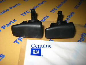 2 Cadillac Cts Srx Windshield Washer Nozzle Squirter Sprayer Oem New Genuine Gm