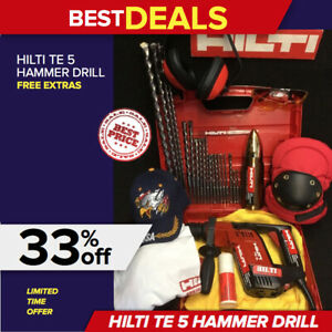 Hilti Te 5 Hammer Drill Preowned Free Thermo Bits And More Quick Ship