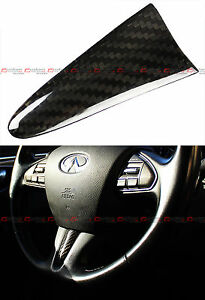 For 2015 17 Infiniti Q50 Carbon Fiber Add On Steering Wheel Center Piece Cover